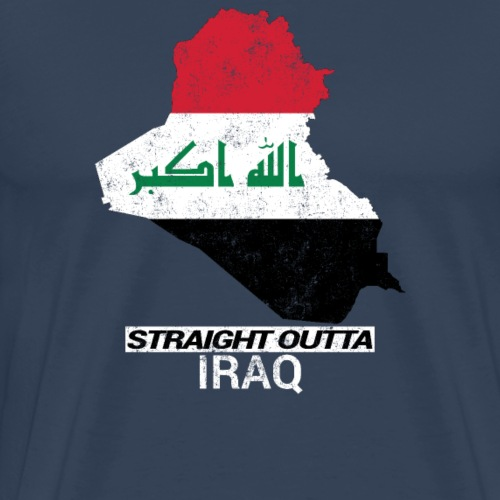 Straight Outta Iraq country map & flag - Men's Premium T-Shirt