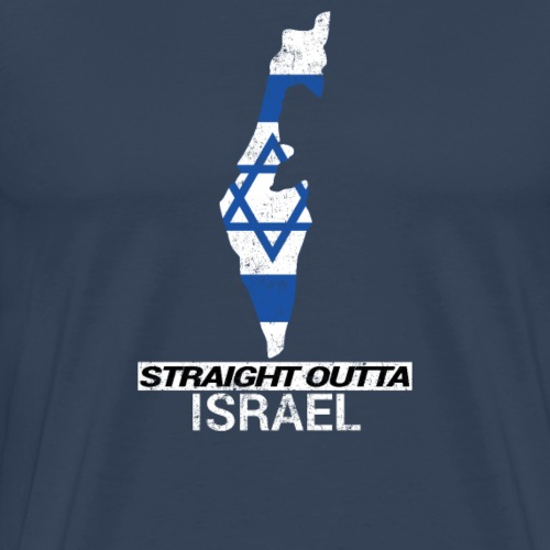 Straight Outta Israel country map & flag - Men's Premium T-Shirt