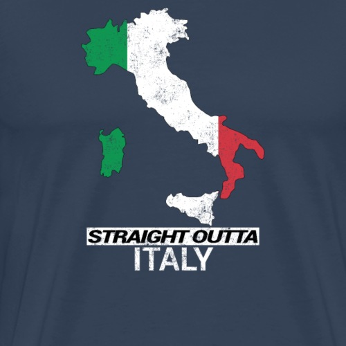 Straight Outta Italy (Italia) country map flag - Men's Premium T-Shirt