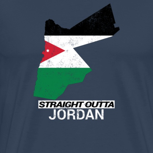 Straight Outta Jordan country map - Men's Premium T-Shirt