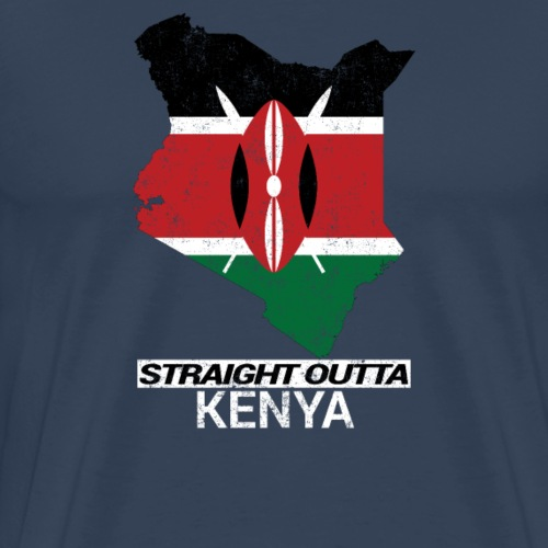 Straight Outta Kenya country map & flag - Men's Premium T-Shirt