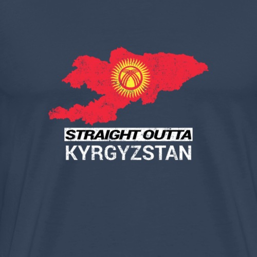 Straight Outta Kyrgyzstan country map - Men's Premium T-Shirt