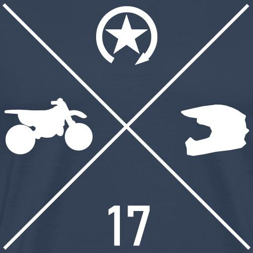 BIKE N HELMET 17 we - Men's Premium T-Shirt
