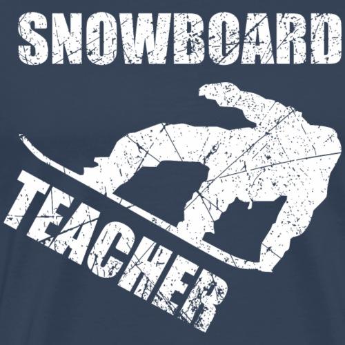 Snowboardteacher Snowboard - Männer Premium T-Shirt