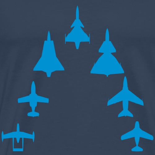 Swedish Air Force - Jet Fighter Generations - Premium-T-shirt herr