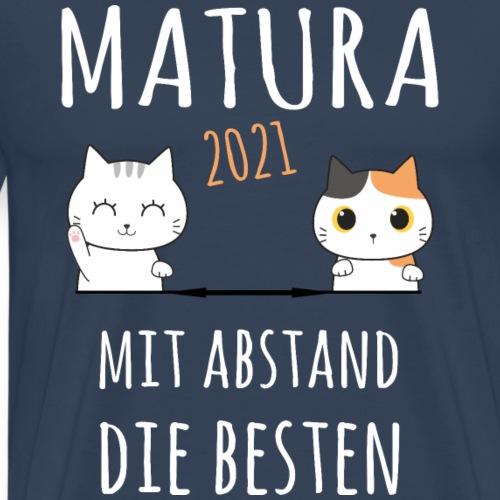 Matura 2021 Schule Corona Katze Shirt Geschenk - Männer Premium T-Shirt