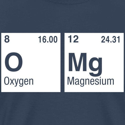 OMg written with Elements of the Periodic Table - Men's Premium T-Shirt