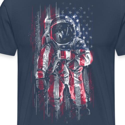 Astronaut Flag - Men's Premium T-Shirt