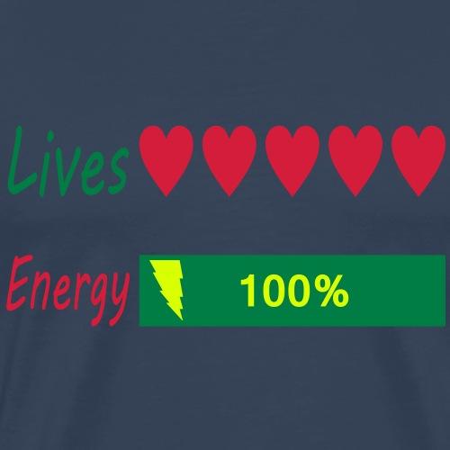 5 lives and 100% energy - Männer Premium T-Shirt