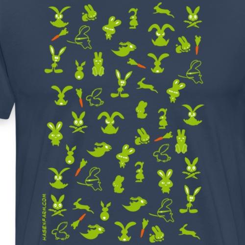 HASE KANINCHEN BUNNY BUNNIES HÄSCHEN MÖHRE KAROTTE - Männer Premium T-Shirt