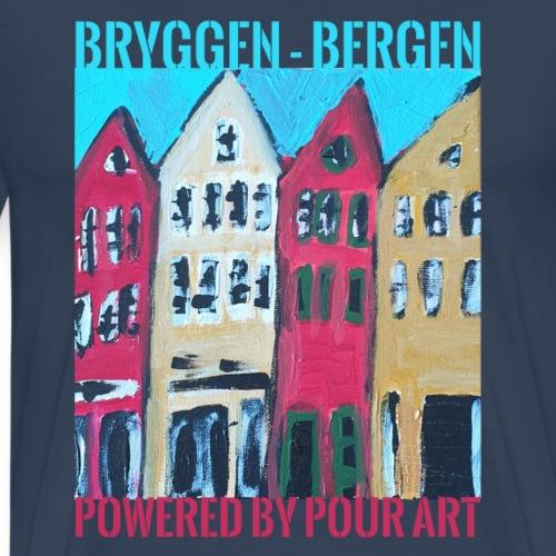 Bergen Bryggen T-shirt - Herre premium T-shirt