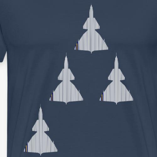 JA 37 Swedish Air Force Missing Man - Premium-T-shirt herr