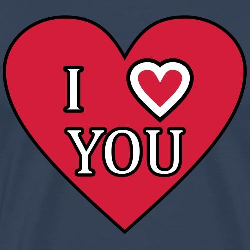 Herz - I love you - Männer Premium T-Shirt