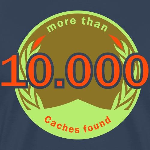 10 000 Caches editierbar svg - Männer Premium T-Shirt
