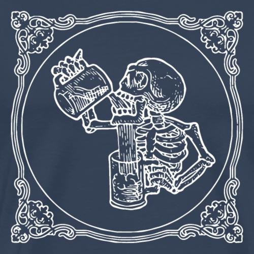 Ein Schädel Bier trinken - Männer Premium T-Shirt