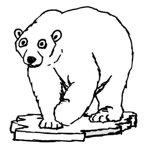 White Bear - Maglietta Premium da uomo