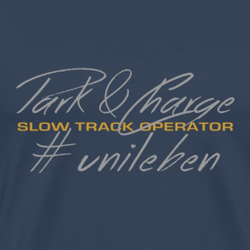 '#unileben, Slow Track - Männer Premium T-Shirt