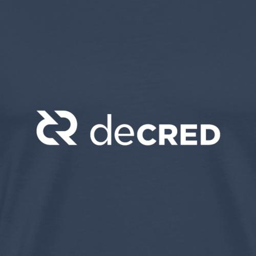 Decred logo horizontal white - Mannen Premium T-shirt