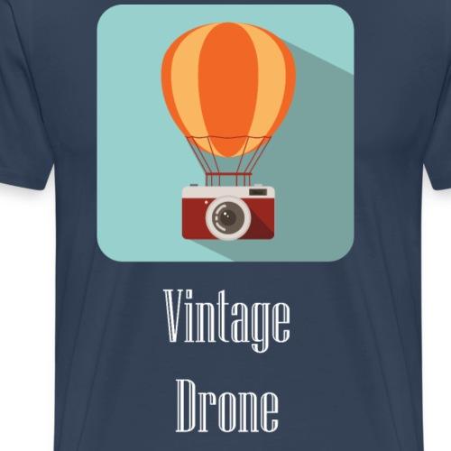 Vintage drone - Maglietta Premium da uomo