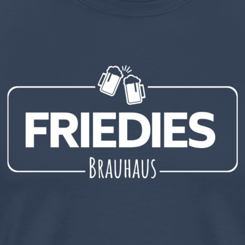 Friedies Brauhaus Logo - weiß - Männer Premium T-Shirt