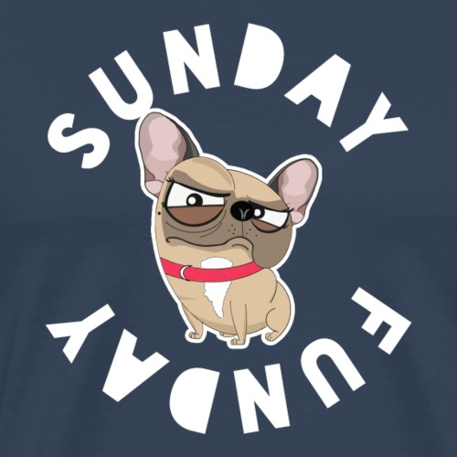 Frenchie Sunday FunDay - T-shirt Premium Homme