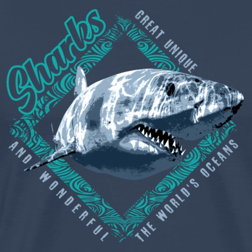 White Shark Predator. Cool Textiles, Gift ideas - Miesten premium t-paita