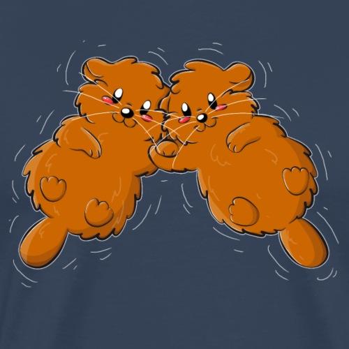 Otter-Liebe - Männer Premium T-Shirt