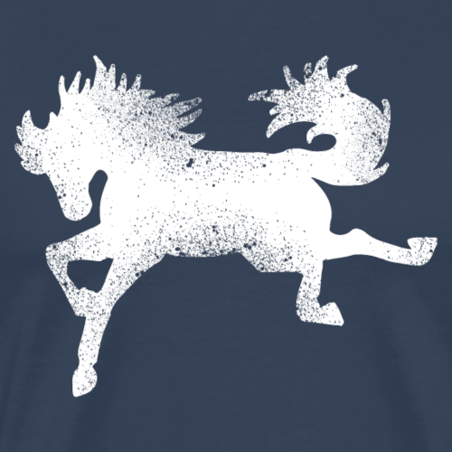 Wildpferd Rodeo buckeln lustig Geschenk Silhouette - Männer Premium T-Shirt