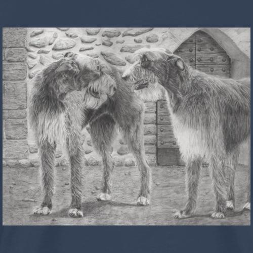 Irish Wolf hound - Herre premium T-shirt