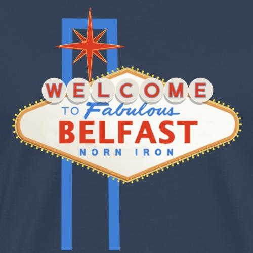 Belfast - Vegas sign - Men's Premium T-Shirt