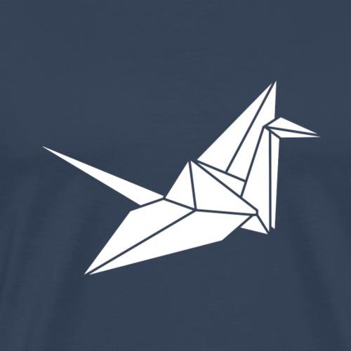 White Kranich - Männer Premium T-Shirt