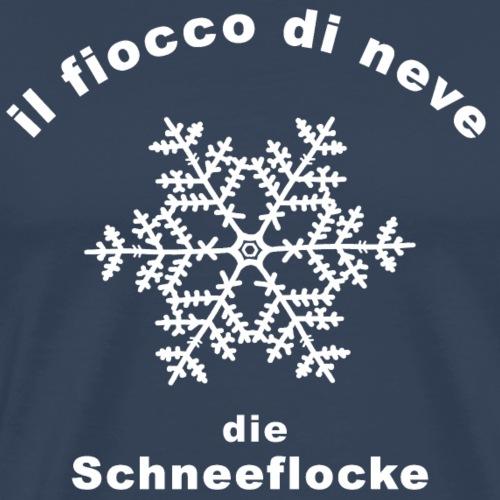 Die Schneeflocke auf Italienisch/ Deutsch - Männer Premium T-Shirt