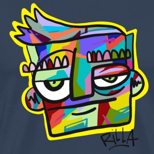Rilla colour face - Mannen Premium T-shirt