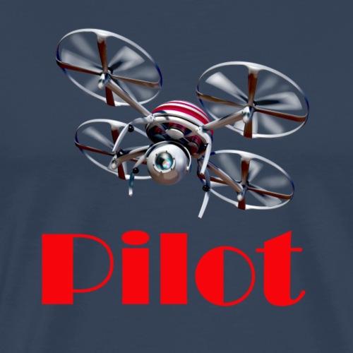 Drohnen Pilot red - Männer Premium T-Shirt