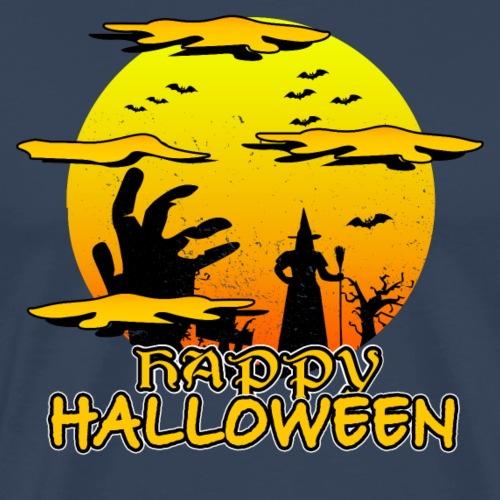 Halloween Hexe mit riesiger Hand - Happy Halloween - Männer Premium T-Shirt