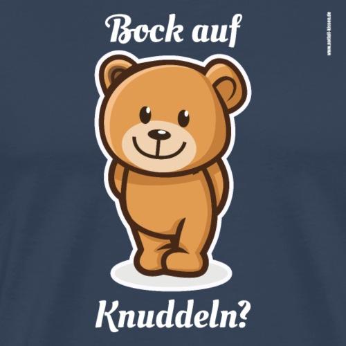 Teddybär - Bock auf Knuddeln? white-on-black - Männer Premium T-Shirt