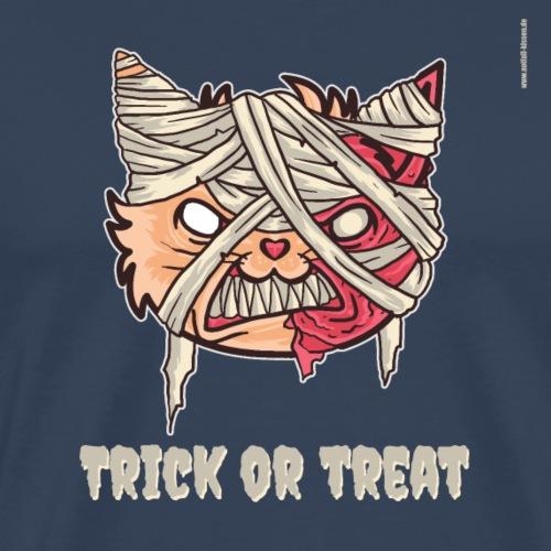 Zombie Katze - Trick or Treat - Männer Premium T-Shirt