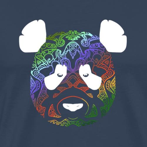 Panda en couleur 2 (version pour fonds sombres) - T-shirt Premium Homme
