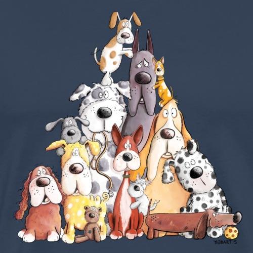 Mega Hundhaufen I Lustiges Hundemotiv I Hund - Männer Premium T-Shirt