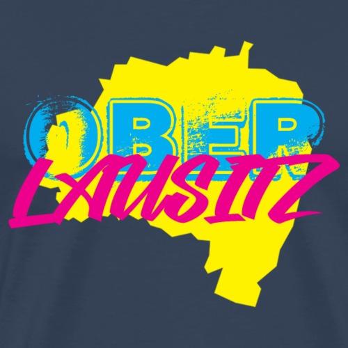 Oberlausitz - Fanartikel mit 80er Retro Design - Männer Premium T-Shirt