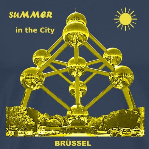 Summer Brüssel Belgien Bruxelles Atomium Sommer - Männer Premium T-Shirt