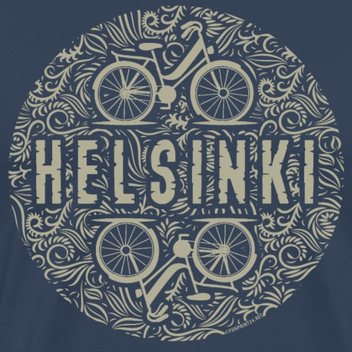 HELSINKI BICYCLE LIFE Textiles, Gifts for You! - Miesten premium t-paita