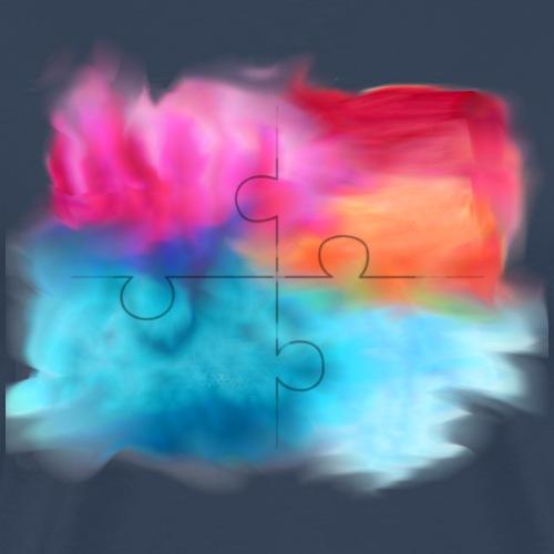 puzzle, bunt, Farben, - Männer Premium T-Shirt
