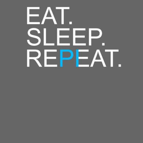 Eat Sleep Repeat PI Mathe Dunkel - Männer Premium T-Shirt