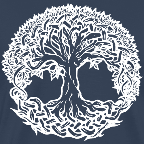 Lebensbaum Boho Weiß Natur Keltisch Geschenk norse - Männer Premium T-Shirt