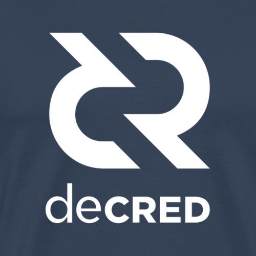 Decred logo vertical white - Mannen Premium T-shirt