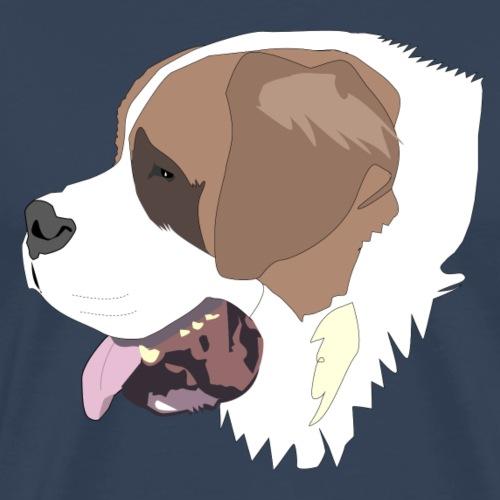 Saint Bernard dog - Herre premium T-shirt