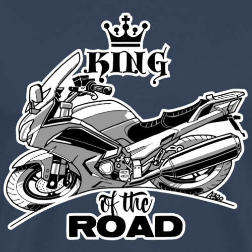 0883 FJR KING of the ROAD - Mannen Premium T-shirt
