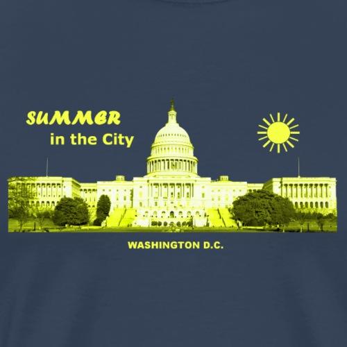 Summer City Washington D.C. - Männer Premium T-Shirt