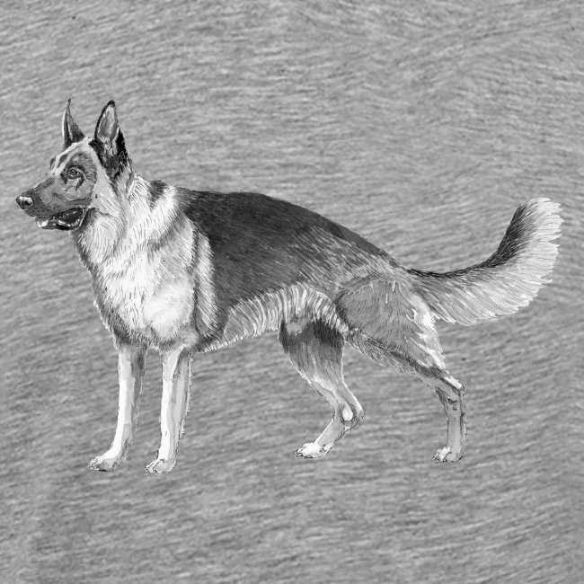 German shepherd schæfer ink